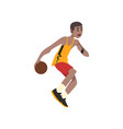 basketball player athlete in uniform with ball vector image vector image