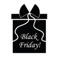 black friday logo vector image