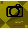 Camera Flat modern web design on a flat geometric vector image