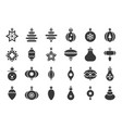 christmas ball ornaments icon set 1 solid design vector image vector image