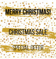 christmas sale background with stars vector image vector image