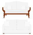 Classic and vintage furniture vector image vector image