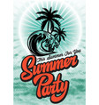 color poster for summer party with inscription vector image vector image