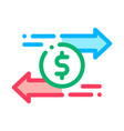 currency dollar exchange icon outline vector image