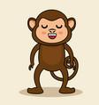 cute monkey style kawaii vector image vector image