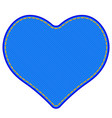 denim heart symbol vector image