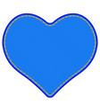 denim heart symbol vector image vector image