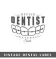 dental label vector image