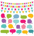 design elements set - bunting and speech bu vector image vector image