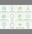 document and scissors icons vector image