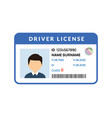 driver licence icon id card license vector image