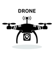 Drone black and white icon vector image
