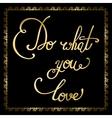 Elegant golden quote vector image