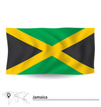 Flag of Jamaica vector image vector image