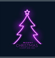 glowing neon christmas tree background vector image