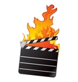 Hot movie vector image vector image
