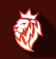 king lion with crown modern flat logo icon vector image vector image