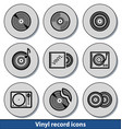 light vinyl record icons vector image