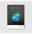 modern abstract brochure book flyer design vector image vector image