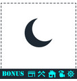 moon icon flat vector image vector image