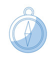 navigation compass icon destination travel vector image
