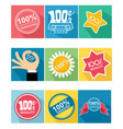 nine guarantee icon vector image vector image
