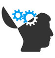 open mind gears icon vector image vector image