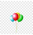 realistic color balloons set isolated on vector image vector image