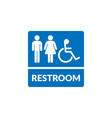 restroom sign isolated on white background vector image vector image
