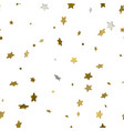 seamless pattern with stars gold stars for your vector image vector image