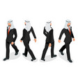 set businessman arab man on white background vector image