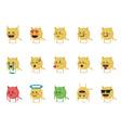 Set of cat emoticon vector image vector image