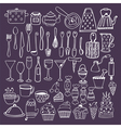 Set of hand drawn kitchen equipments Kitchen vector image vector image