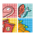 set of supermarket products vector image vector image