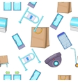 Shop pattern cartoon style vector image vector image