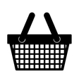 silhouette monochrome with shopping basket vector image vector image