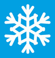 snowflake icon white vector image vector image