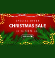 special offer christmas sale up to 50 off vector image vector image