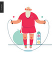 sporting santa - rope jumping vector image vector image