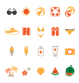 Summer Icons Set with White Background vector image vector image