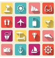 Summer travel icons long shadow vector image vector image
