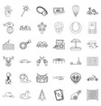 tale icons set outline style vector image vector image