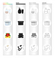 tattoo interior attributes and other web icon in vector image