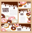 templates set for donut desserts vector image vector image