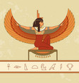 the egyptian goddess isis animation portrait of vector image vector image