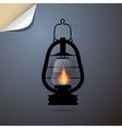Vintage Lantern Gas Lamp vector image