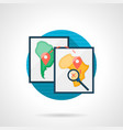 virus distribution map color detailed icon vector image vector image