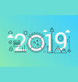 weekend 2019 word trendy composition concept vector image