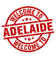 welcome to adelaide red stamp vector image vector image
