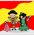Welcome to Spain people vector image vector image